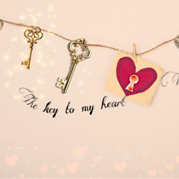 freetoedit heart keys valentinesday string