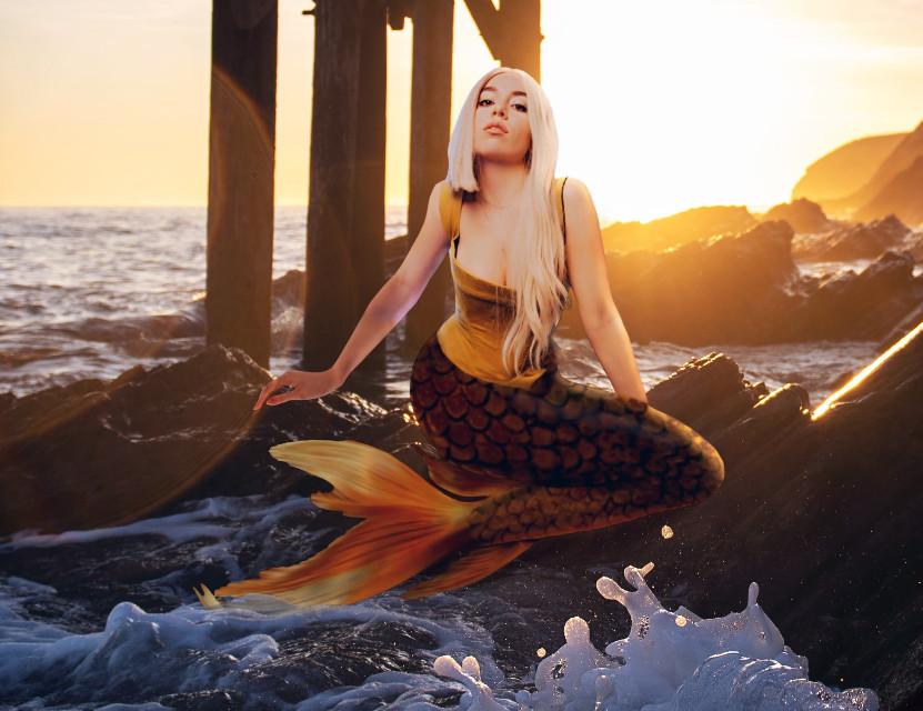 #freetoedit #sweetbutpsycho #avamax #avamaxfanart #mermaid #girl #woman #seaside #bitch