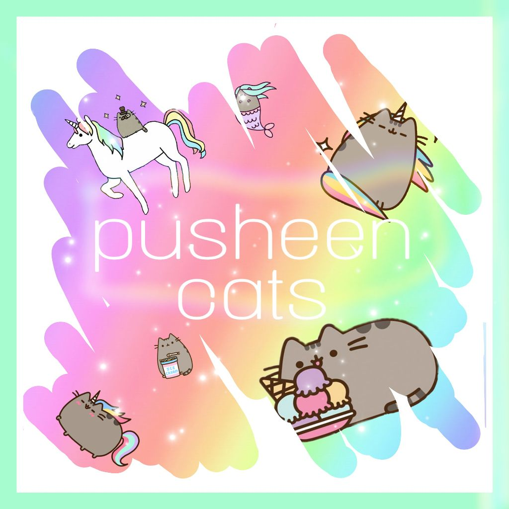 #freetoedit #pusheen #cat #pastel #rinbow #white