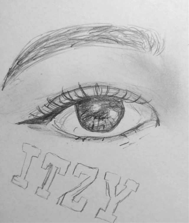 Another eye! Can guess which member of ITZY this is??? I'm having a lot of fun making these. I'm coloring this one and posting it later!!  It's Lia's eye!   #freetoedit #kpopfanart #kpop #art #drawing #myart #mydrawing #fanart #itzy #lia