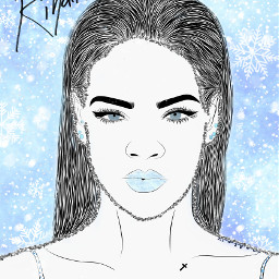 freetoedit rihanna winter snowflakes girl ircrihannafanart