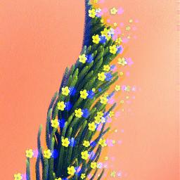 freetoedit flowerbrush glintcheffect springbrush glitch