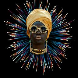 freetoedit girl africangirl glasses black