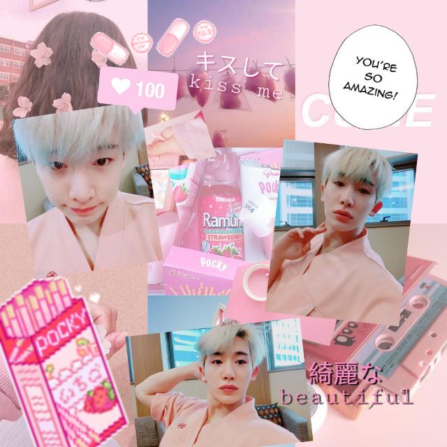 {💌} 190219                     Stan monsta x ,,,  Tags  #freetoedit #LeeHoseok #Wonho #Pink #Aesthetic #StanMonstaX #MonstaX