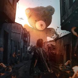 myedit bear war dream children freetoedit