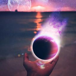 freetoedit hand planet space srcetherealplanet