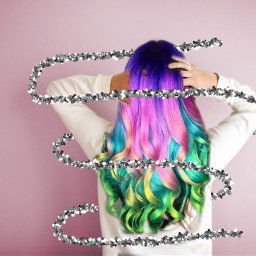 freetoedit colorfulhair rainbowhair hashtag colourfulhair
