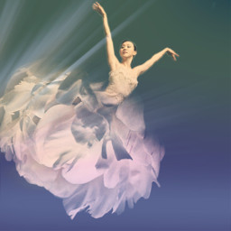 freetoedit ballerina dancer flower peony