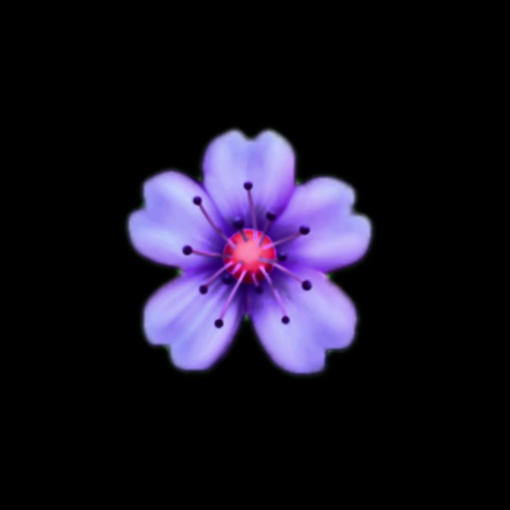 #purpleflower #emoji #flower #purple