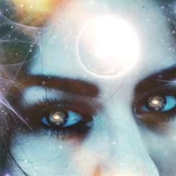 freetoedit face eyes galaxy stars eclipse