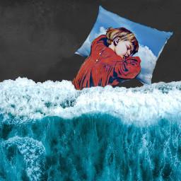 freetoedit ocean pillow sleepy