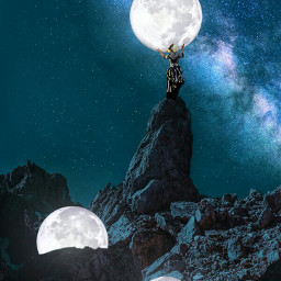 freetoedit galaxyedit surrealedit surrealism moon