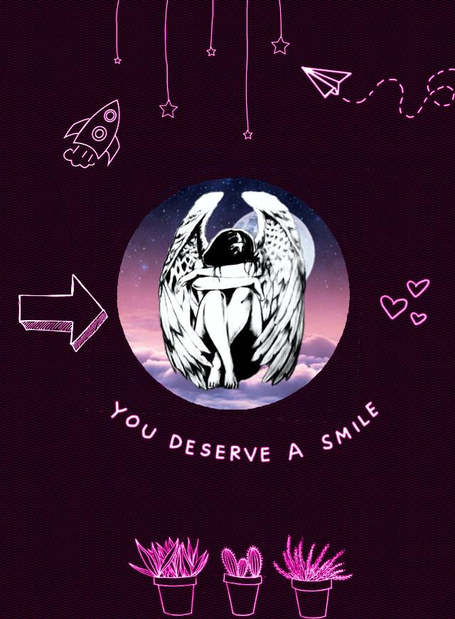 #freetoedit #sad #girl #cute #emotions #emotional #angel #angelwings