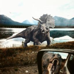 myedit dinosaur dream jeep photography freetoedit