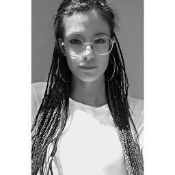 freetoedit girl blackandwhite hairstyles girlpower
