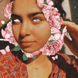freetoedit flowers flores girl mascara