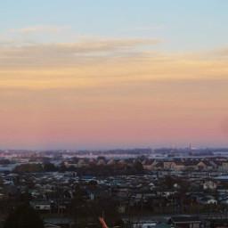 freetoedit sunset town sky skyline