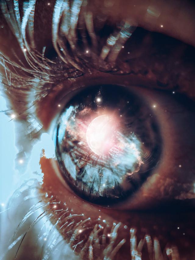 #freetoedit #eye #moon #galaxy #stars #surreal #picsart #doubleexposure #dark #beautiful #madewithpicsart #eye #pupil #photography #color #vipbrushtool