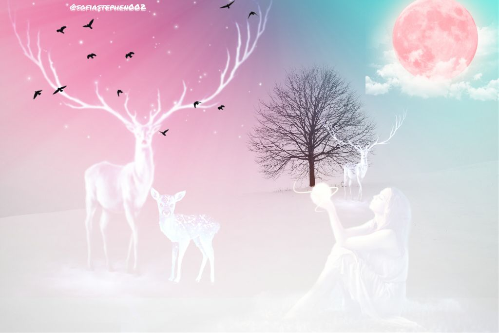 A new try... Plz vote... Hope you all like it...  Thank u @picsart  #freetoedit #deer #forest #fantasy