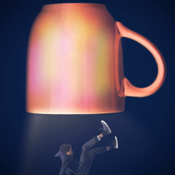 freetoedit falling surreal cup myinspiration