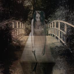 freetoedit scary bridge troll ghost