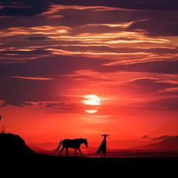 madewithpicsart vipshoutout edit nature sunset
