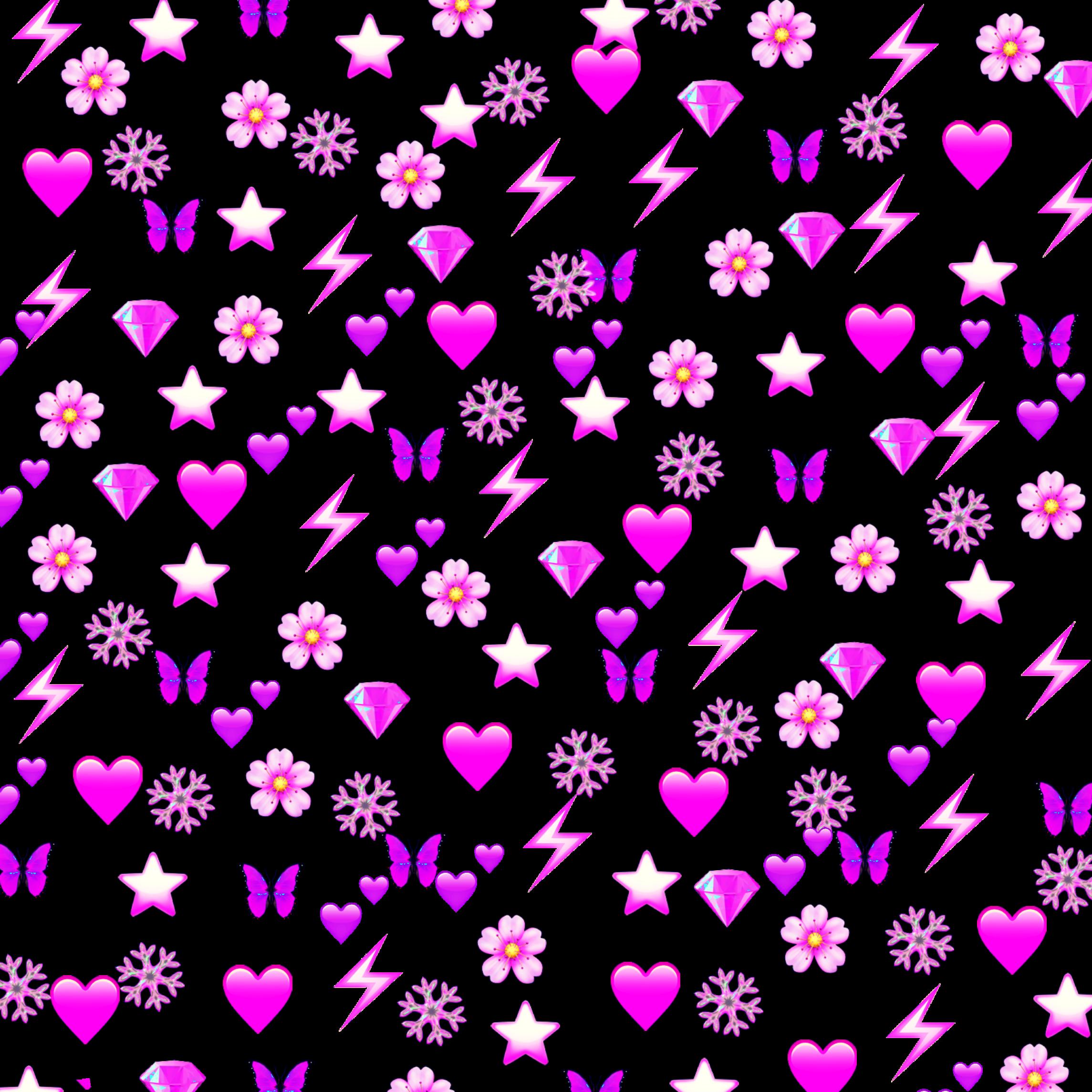 heart hearts pink emoji emojis sticker butterfly butter...