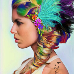 freetoedit freetoeditnot donotedit woman braids srccarnavalwings