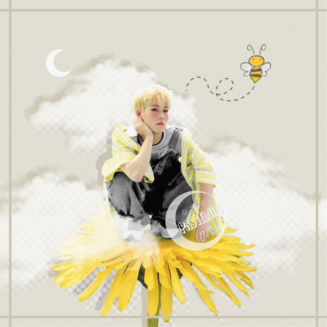 ─🐝💛 Save the bees~  A jooheon edit after a loooong time! Oh how I missed him :') You guys should check out his mixtapes and also stan monsta x hehe💛  This might be my favorite flower in my flower garden until now! Probably because I'm obsessed with the color yellow lately and also with Jooheon💛  Anyways.. I hope you guys like it ~  >>> CREDITS > Jooheon ▪ deviantart@/starrymin > check sources  >>> TAGS #leejooheon #jooheon #jooheonmonstax #monstaxjooheon #monstax #monstaxedit #jooheonedit #kpopedit #kpop #edit #graphic #graphicdesign #design #flower #yellow #bee #clouds #moon #interesting #aesthetic #pastel #freetoedit