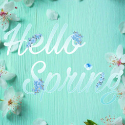 freetoedit spring wallper flower hello