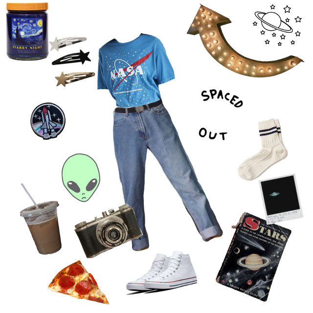 Space loving teen moodboard and outfit aesthetic  #aesthetic #space #spacevibes #vintage #moodboard #moodboards #moodboardaesthetic