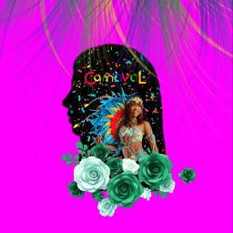 freetoedit carnaval girl colors pink eccarnival