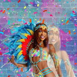 freetoedit carnaval girl colors pink irccarnavalmakeover