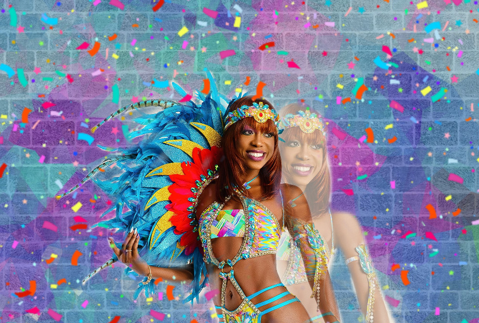 #freetoedit #carnaval #girl #colors #pink #feathers