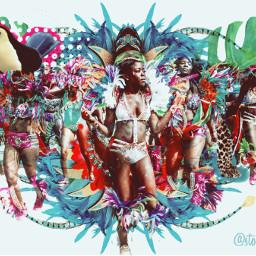 freetoedit carnaval dancers colorful toucan irccarnavalmakeover