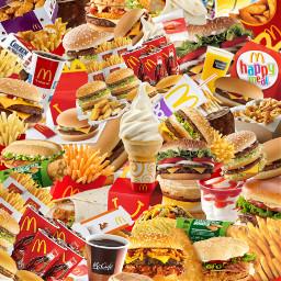 freetoedit mcdonalds food tumblr collage