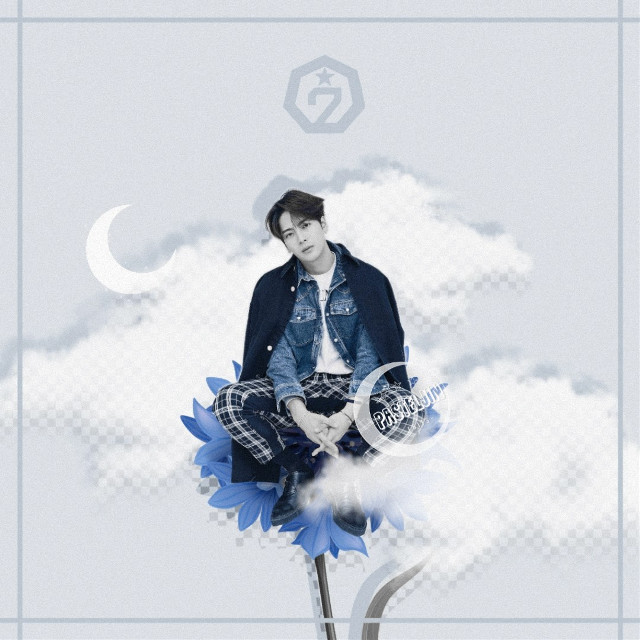 ─💙🖤  Jackson joined the little garden~ I hope you guys like this!!💙  >>> CREDITS > check sources  >>> TAGS #jacksonwang #teamwang #jackson #wangjackson #got7jackson #jacksongot7 #got7edit #got7 #jacksonedit #kpopedit #kpop #edit #flower #clouds #pastel #aesthetic #interesting #graficdesign #grafic #design #freetoedit