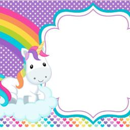 invitacion invitation unicornio