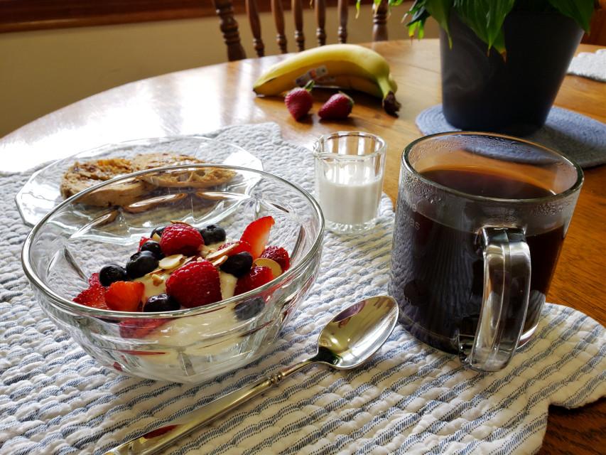 #foodphotography #breakfast #yogurt #coffee #lifestyle  #freetoedit