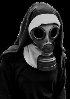 nun gasmask creepy freetoedit