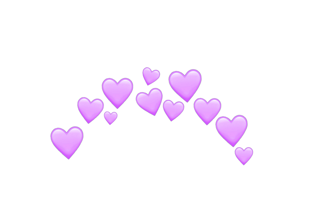heart hearts purple purpleheart crown emoji emojis stic