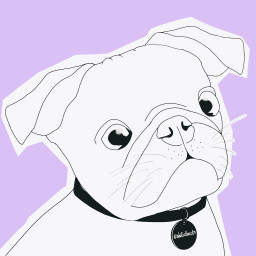 freetoedit outlineart mydrawing puppydog cute loveanimals madewithpicsart blackandwhite madebyme