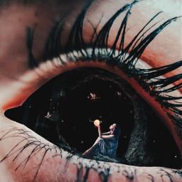 freetoedit myedit eye girl cave