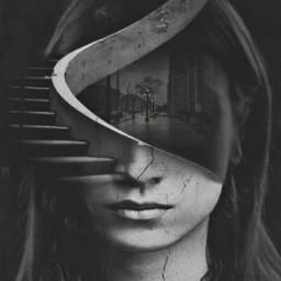 freetoedit editbyme multipleexposure blackandwhite imagination