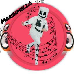 marshmello music musicnotes speakers freetoedit