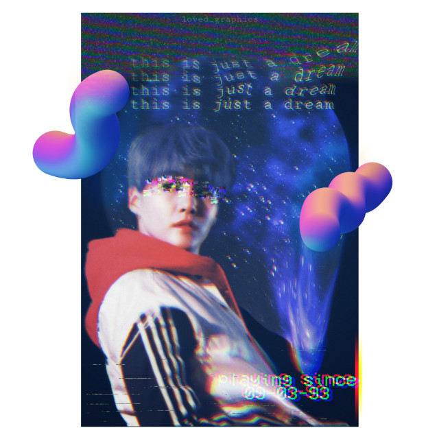 Dreaming.. Yoongi Png ctto ( I couldn't find the actual owner of png ) #dream #pisces #minyoongi #yoongi #suga #gradient #poster #glitch #vhs #vcr #retro #galaxy