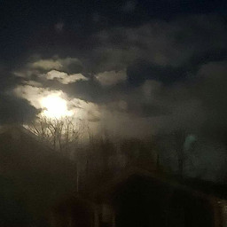 myphotography coldnight moonlight clouds march2019 freetoedit