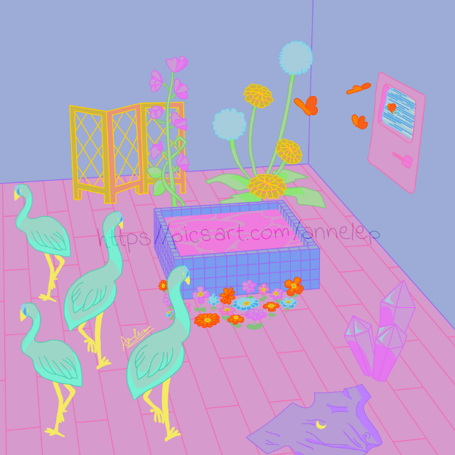 Aesthetic room  This took me a lot to make, but I finally did it! I used as a reference a room I made on Animal Crossing that I particularly like + I added a few things. Hope you all will like it! ☺️🌸✨  #aesthetic #room #saturated #oversaturated #cute #drawing #digitaldrawing #drawingonsmartphone