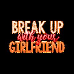 sticker tumblr aesthetic orange girlfriend freetoedit