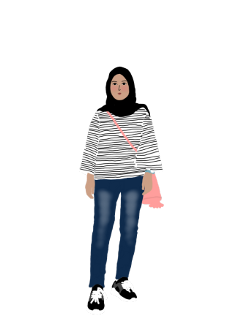 hijab girl outfit freetoedit